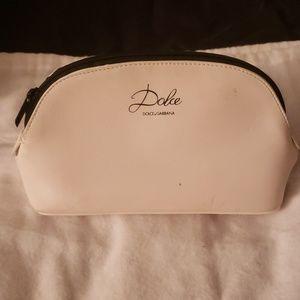 Dolce & Gabbana Makeup Bag White Leather